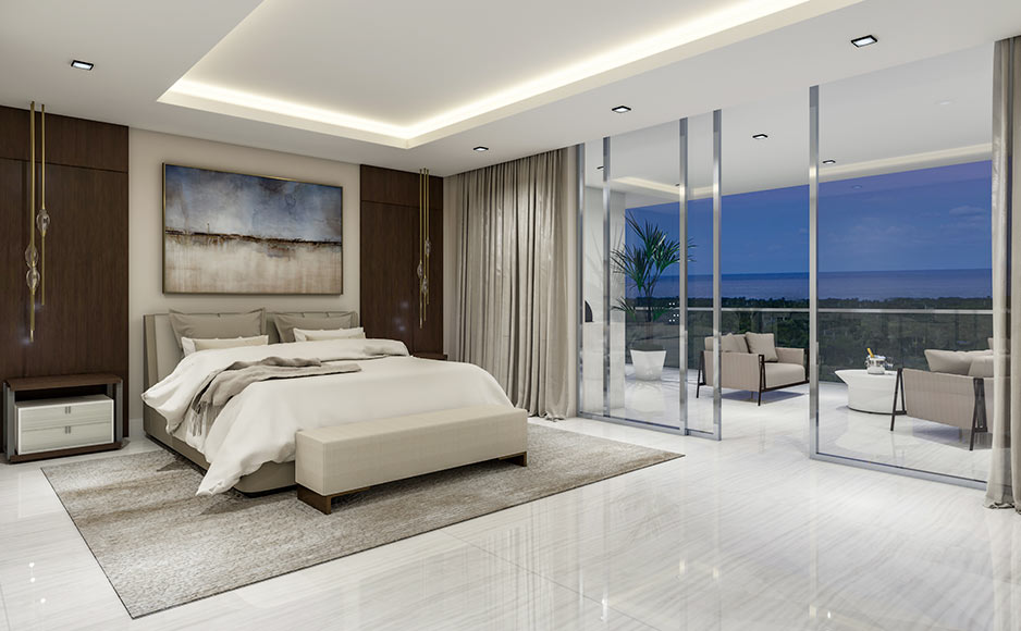 Residence Master Bedroom and Terrace