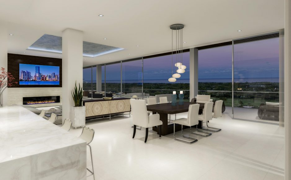 The Penthouse Collection Living and Dining Room